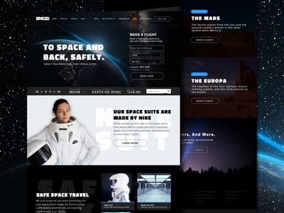 SPACEDchallenge Homepage Design philippines identity brand creative spaced design ux ui space spacedchallenge