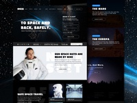 SPACEDchallenge Homepage Design