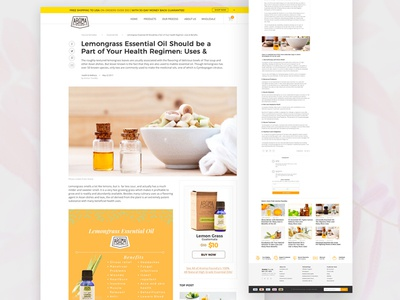 Aroma Foundry blog post redesign oil essential natural identity branding brand creative philippines designer ux ui