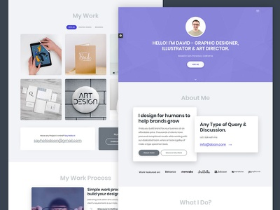 Personal Portfolio single page design portfolio design portfolio website one page design one page website resume cv html freelancers portfolio one page web responsive ux page landing page layout design website ui template