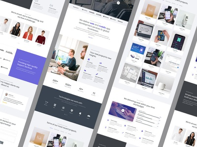 Business Concept Layout studio creative company development digital branding responsive website design web agency html template design one page concept business landing page layout design website template