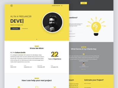 Portfolio Template vcard onepage cv resume artists work showcase designers developers photographers template landing page ux design ui personal layouts website design portfolio design portfolio