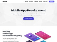 Doon Mobile App Development Agency Template