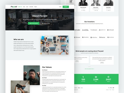 About Us Landing page design user interface landing page ui webdesign user about page about me aboutus web business website page responsive landing page design tempalte design online payment money transfer ux ui landing page about us page