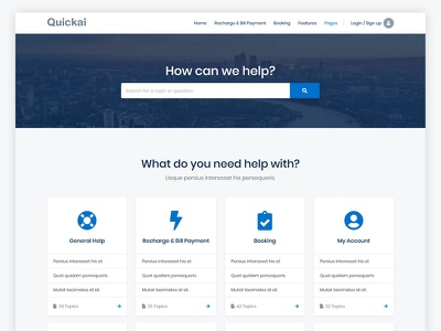 Help Page page design website design helpdesk help center support help page landing page layout clean ux ui design website template