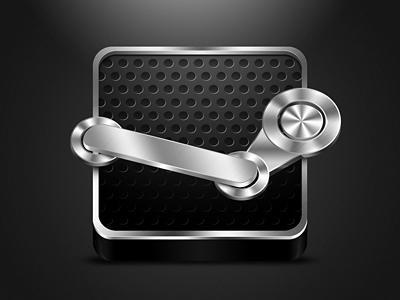 Steam steam icon valve dark