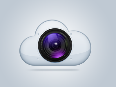 Photo cloud cloud photo icon camera lens