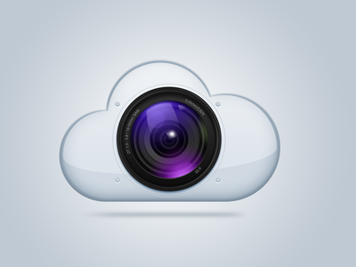Photo cloud cloud photo icon camera lens