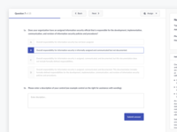 Questions Flow - Compliance Platform