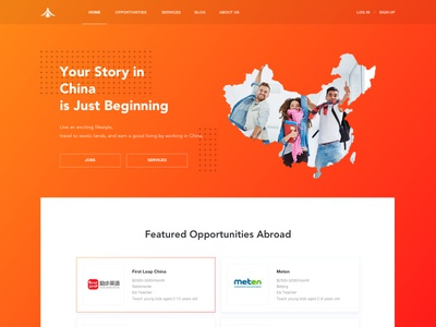 CareerChina web design