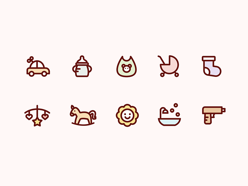Icons for baby