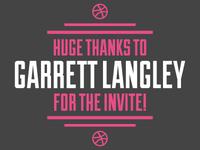 Thanks Garrett Langley!!