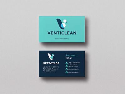 Graphic Design in Print for Venticlean - B2B Industrial Cleaning logo photoshop illustrator design vectors graphic design adobe branding