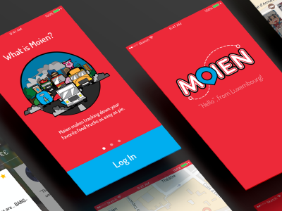 Moien - A Food Truck App mobile design branding vectors uxui