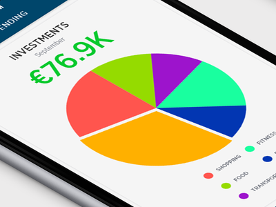 Adobe xd Challenge. Day 1: Finance App interaction design ui adobe xd photoshop adobe xddailychallenge