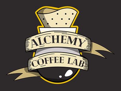 Logo Design - Alchemy Coffee Lab v1 & v2 branding logo graphic  design illustrator cc adobe