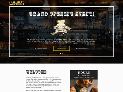 Alchemy Coffee Lab - landing page typography logo design illustrator cc illustrator illustrations graphic design design ui logo adobe xd adobe vectors branding