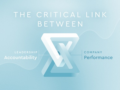 Leadership Accountability & Company Performance performance chain link leadership inspiration ampersand analogy trippy triangle strip mobius