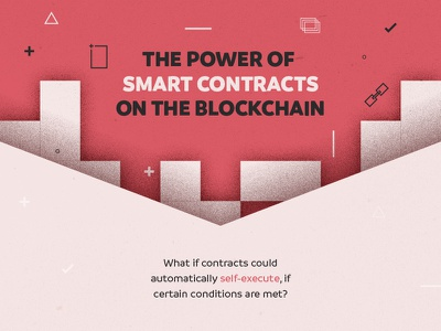 The Power of Smart Contracts Infographic Header technology smart infographic guide diagram currency crypto contract blockchain bitcoin