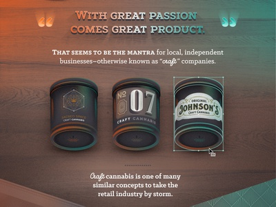 Example Craft Cannabis Jars infographic typography wood glass plastic jar label packaging marijuana weed craft organic cannabis