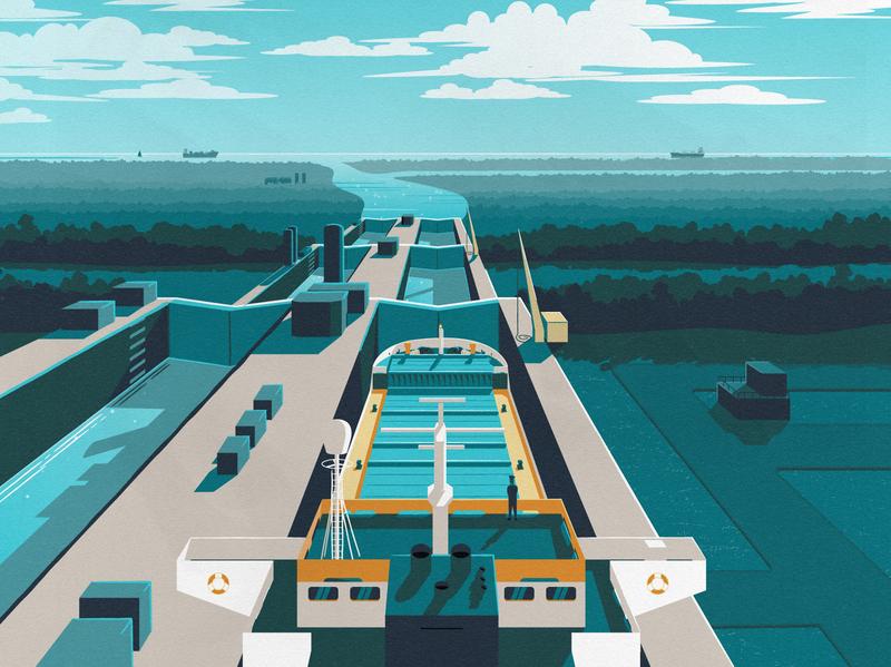 Welland Canal Illustration