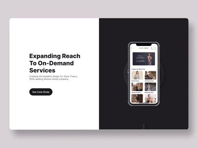 Homepage - Case Study Section mobile app case study webdesign smart animate figma