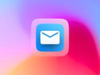 Big Sur Mail App Icon branding logo design graphic neumorphism figma 3d app icon mac os big sur skeumorphism skeumorphic