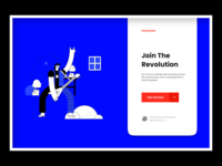 Waiting List Page illustration colorful landing page sign up waiting list