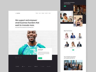 Locaventures - Corporate Business Website website landing page vc venture ventures business corporate