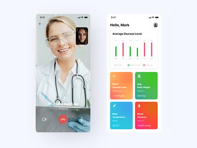 Blood Sugar Level Monitoring App fit app blood pressure level glucose blood sugar ui design product design healthcare health