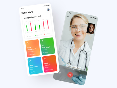 Blood Sugar Level Monitoring App fit app blood pressure level glucose blood sugar ui design product design healthcare health