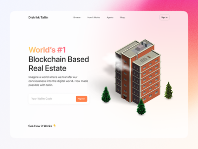 The blockchain marketplace - Housing real estate housing web design nft cryptocurrency blockchain