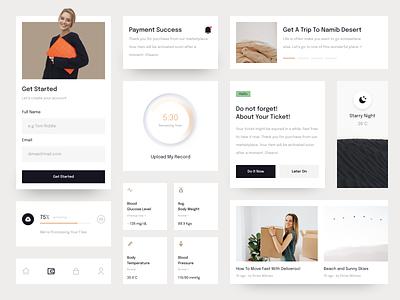 Minimalist UI Widgets web design desktop minimal widget ui kit
