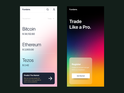 Cryptocurrency Trading App gradient mobile stock app trading app blockchain bitcoin cryptocurrency crypto