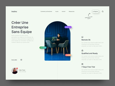 Startup Website Design corporate company profile daily ui gradient minimal web design landing page startup