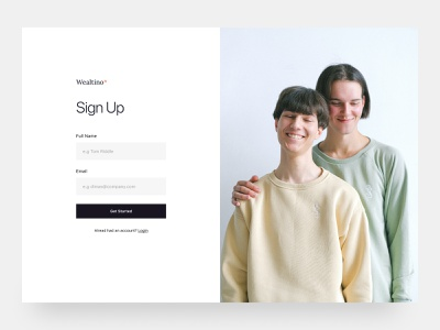 Simple Registration Page white space simple minimal web design sign up register