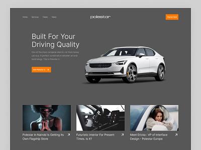 Electric Car Website Design web design website car dealer electric tesla polestar electric car