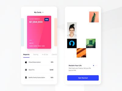 Banking App UI fintech app credit card app credit card mobile product design finance app bank app bank banking finance