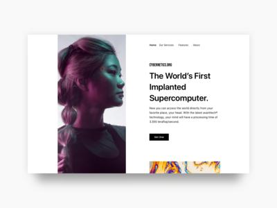 #Exploration - Cybernatics Website Header
