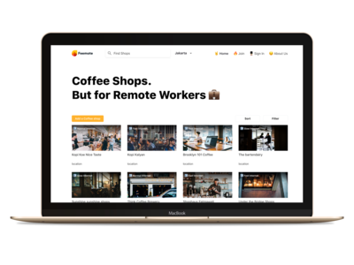 #Exploration - Coffee Shop for Remote Workers
