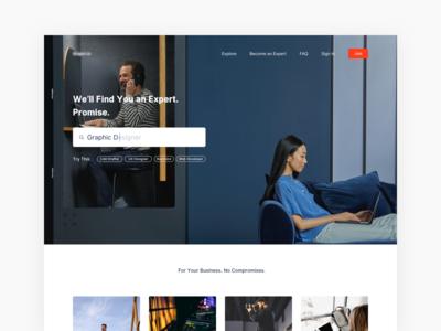 #Exploration - Freelancer Landing Page