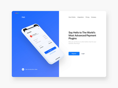 Payment Integration Startup Landing Page