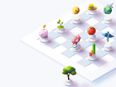 Work on isometric for the first time website chess isometric