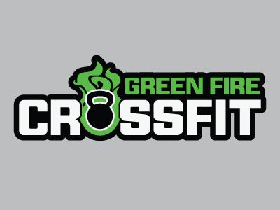 Green Fire Crossfit Banner typography design crossfit type logo banner