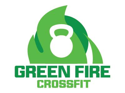Green Fire Crossfit Logo kettlebell design crossfit logo