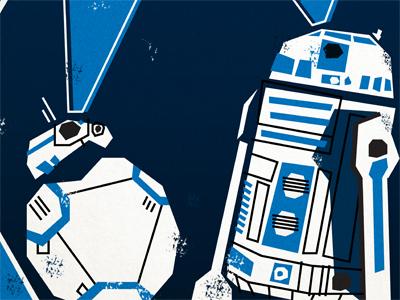 Star Wars Poster the force awakens saul bass star wars illustration design poster bb8 r2d2