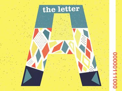 A - Typography drop cap vintage pattern monogram letter a typography type design