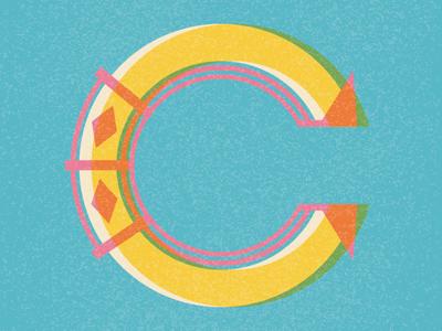 C - Typography drop cap vintage pattern monogram letter b typography type design