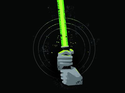 Lightsaber jedi knight jedi episode 6 luke skywalker star wars texture illustration stevens matt lightsaber