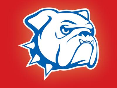 Highland Elemetary Bulldog animal head animal sports logo football baseball sports bulldog design logo